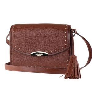Kate Spade Kenway Brown Studded Crossbody